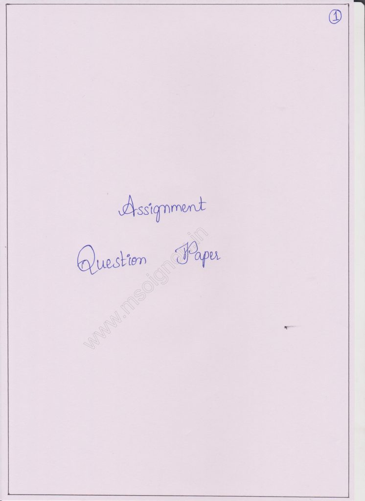 Assignment Format - IGNOU